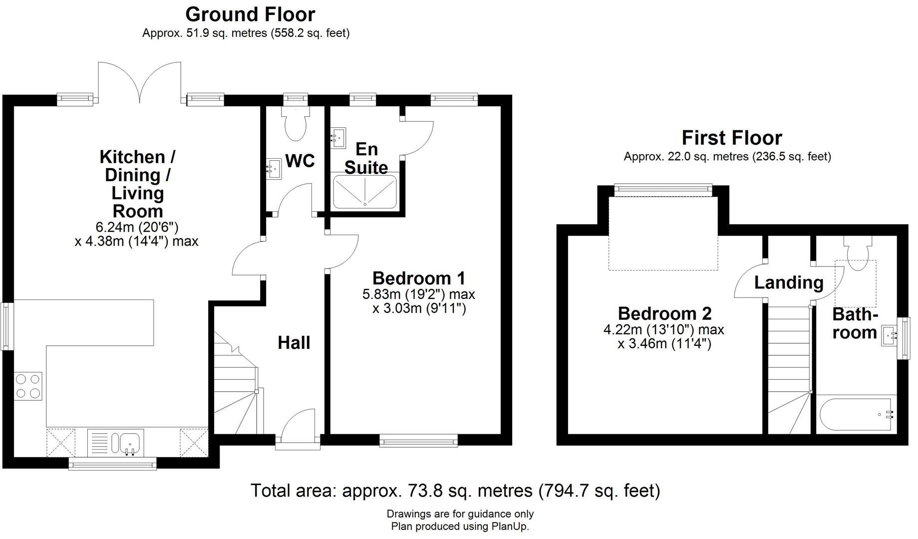 Floor plan Ekin Road, Cambridge